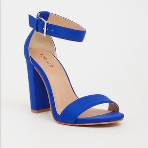 Torrid blue ankle strap heel (wide width)